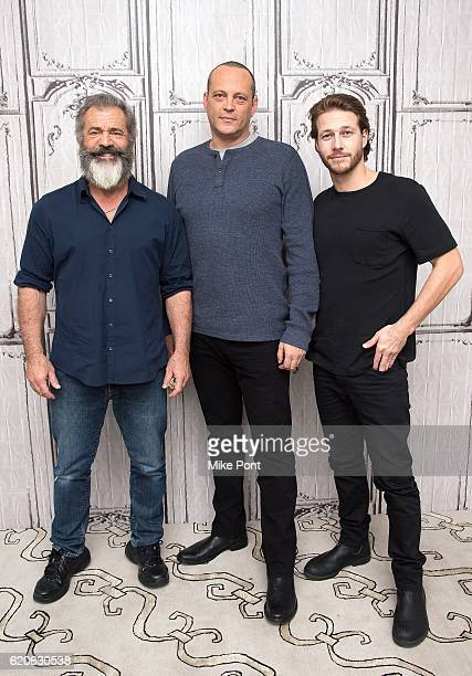 Mel Gibson Vince Vaughn and Luke Bracey attend the Build Series to discuss 'Hacksaw Ridge' at AOL HQ on November 2 2016 in New York City