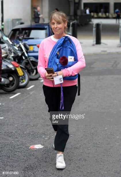 Mel Giedroyc sighting at The BBC on July 12 2017 in London England
