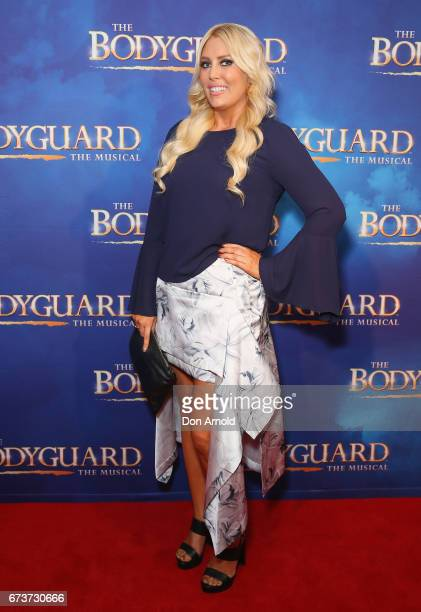 Mel Greig arrives ahead of opening night of The Bodyguard The Musical at Lyric Theatre Star City on April 27 2017 in Sydney Australia