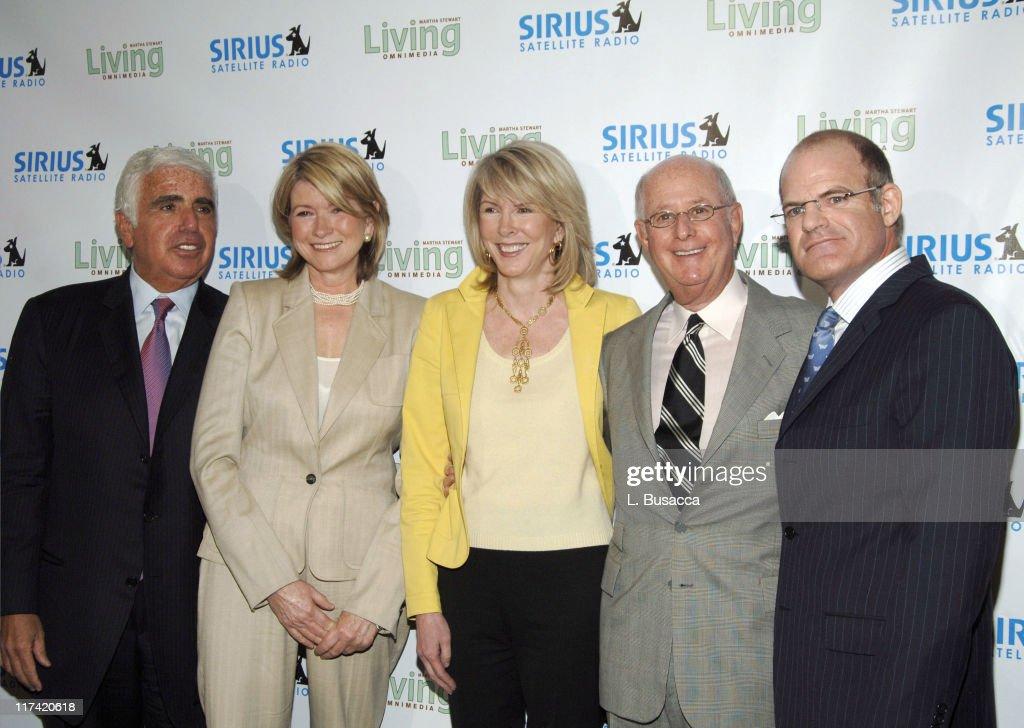 Mel Karmazin CEO of Sirius Satellite Radio Martha Stewart Susan Lyne CEO/president of Martha Stewart Living Omnimedia Charles Koppelman vice chairman...