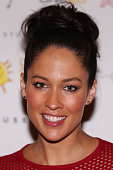 Mel McLaughlin of Channel Ten poses at the 10th anniversary celebration of The Million Dollar Lunch at the Park Hyatt on October 17 2014 in Melbourne...