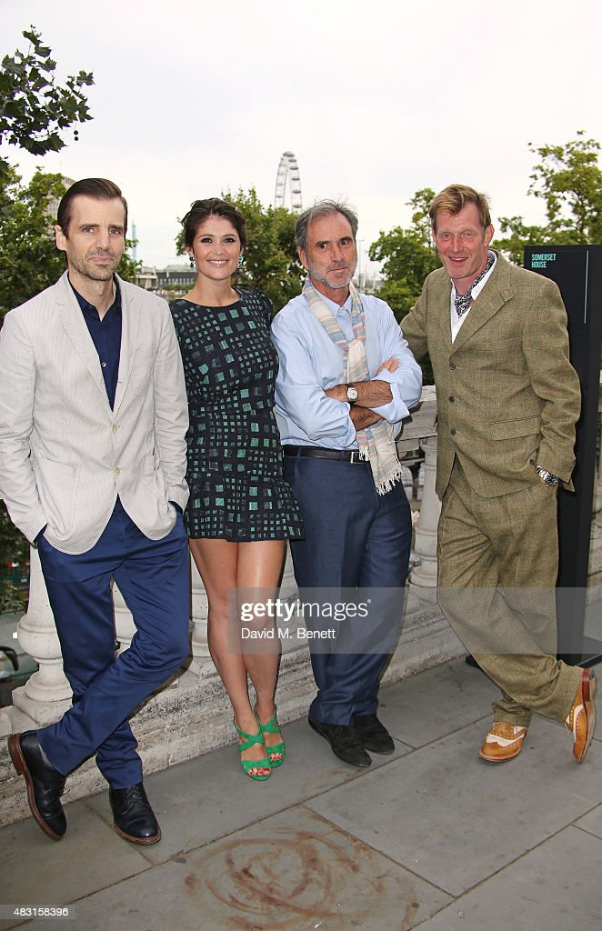 Mel Raido Gemma Arterton producer Philippe Carcassonne and Jason Flemyng attend a UK Premiere of 'Gemma Bovery' at Somerset House on August 6 2015 in...