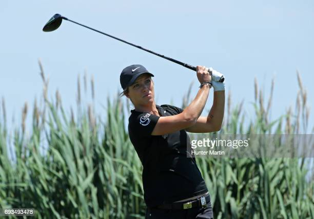 Mel Reid of England during the second round of the ShopRite LPGA Classic presented by Acer on the Bay Course at Stockton Seaview Hotel Golf Club on...