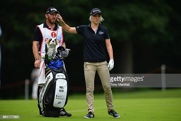 Mel Reid of England looks down the 3rd hole during the first round of the 2016 Ricoh Women's British Open on July 28 2016 in Woburn England