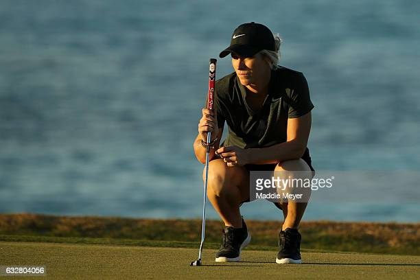 Mel Reid of England looks on from the eighth green during round one of the Pure Silk Bahamas LPGA Classic on January 26 2017 in Paradise Island...
