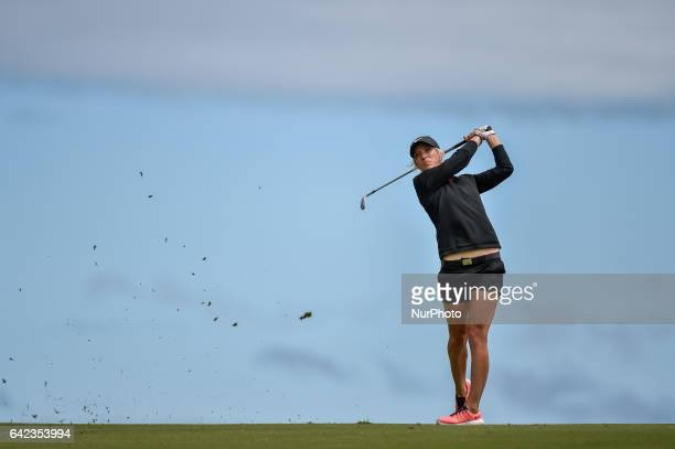 Mel Reid of England on the 11th fairway during round two of the ISPS Handa Women's Australian Open at Royal Adelaide Golf Club on February 17 2017 in...