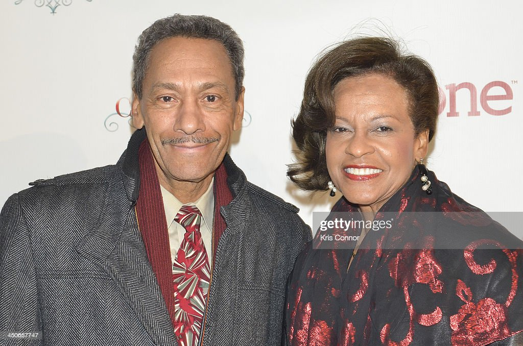 Mel Watt and Eulada Watt pose for photos durin the TV One's One Christmas Holiday Variety Special on November 19 2013 in Washington DC