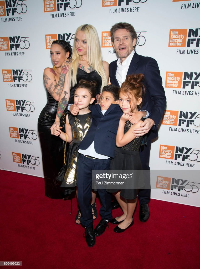 Mela Murder, Bria Vinaite, Willem Dafoe, Brooklyn Prince, Christopher Rivera and Valeria Cotto attend the 55th New York Film Festival - 'The Florida Project' at Alice Tully Hall on October 1, 2017 in New York City.