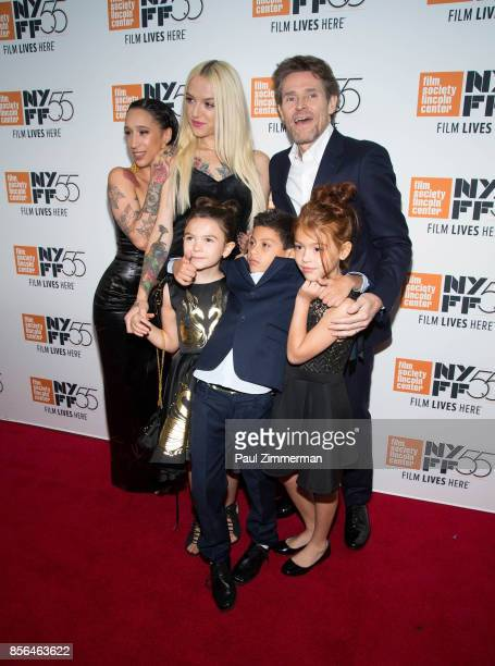 Mela Murder Bria Vinaite Willem Dafoe Brooklyn Prince Christopher Rivera and Valeria Cotto attend the 55th New York Film Festival 'The Florida...