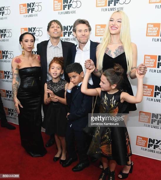 Mela Murder Sean Baker Bria Vinaite Brooklynn Prince Christopher Rivera Willem Dafoe and Valeria Cotto attend The 55th New York Film Festival 'The...