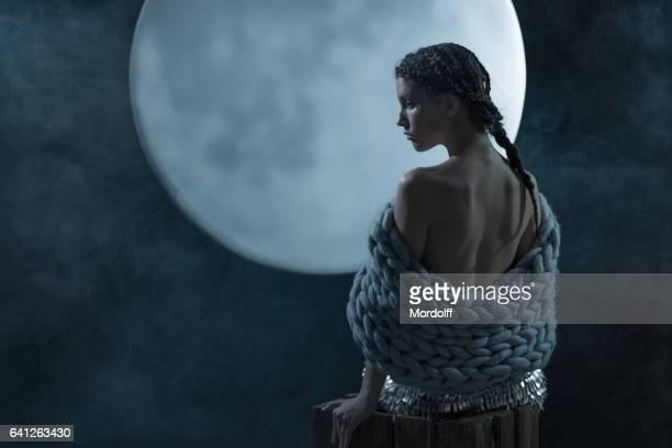Melancholic Mood At Full Moon