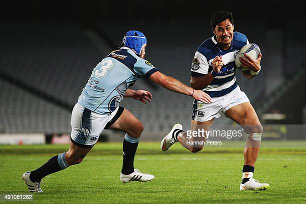 Melani Nanai of Auckland makes a break during the round eight ITM Cup match between Auckland and Northland at Eden Park on October 3 2015 in Auckland...