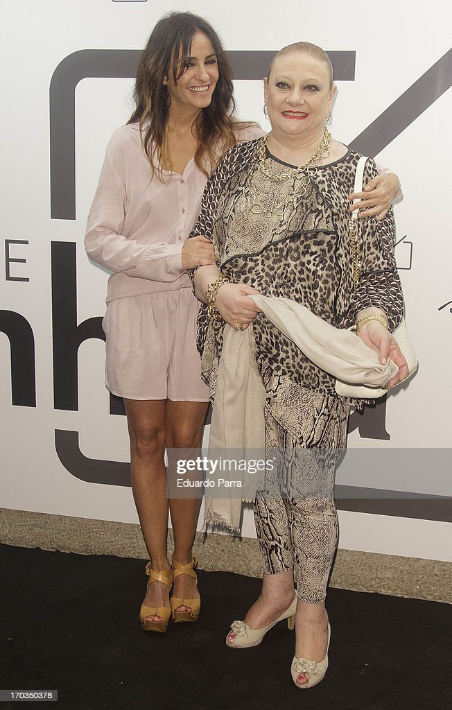 Melani Olivares (L) and Marisol Ayuso attend 'Bendita locura' new collection party photocall at Villamagna hotel on June 11, 2013 in Madrid, Spain.