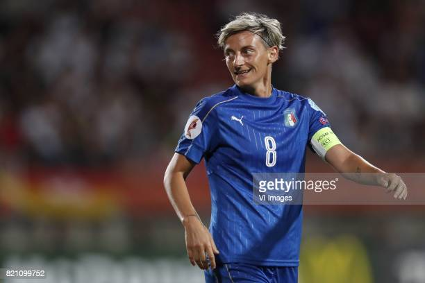 Melania Gabbiadini of Italy Women during the UEFA WEURO 2017 Group B group stage match between Germany and Italy at Koning Willem II stadium on July...