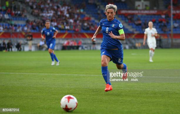 Melania Gabbiadini of Italy Women during the UEFA Women's Euro 2017 match between Germany and Italy at Koning Willem II Stadium on July 21 2017 in...