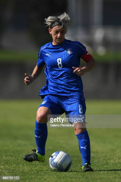Melania Gabbiadini of Italy Women in action during the friendly match between Italy Women and Italy U23 Women at Novarello Training Center on May 16...