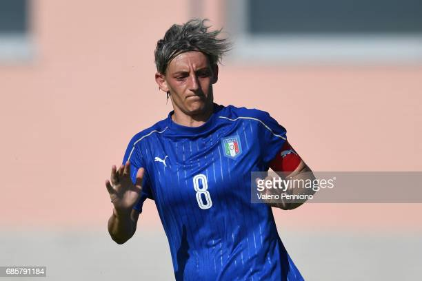 Melania Gabbiadini of Italy Women looks on during the friendly match between Italy Women and Italy U23 Women at Novarello Training Center on May 16...