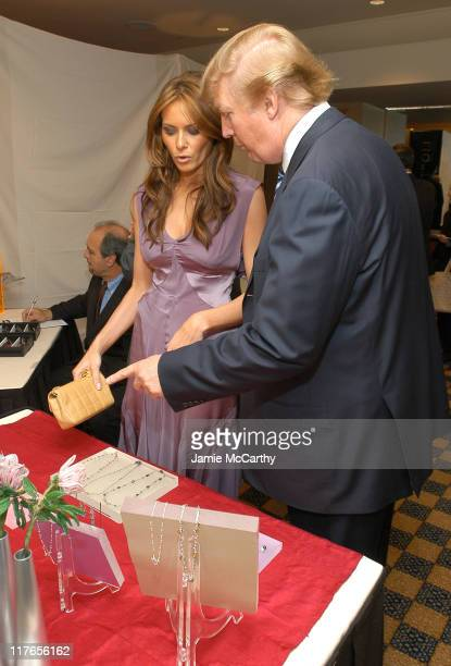 Melania Knauss and Donald Trump during Backstage Creations Retreat at The Promax BDA ConferenceDay 1 at Hilton New York in New York City New York...