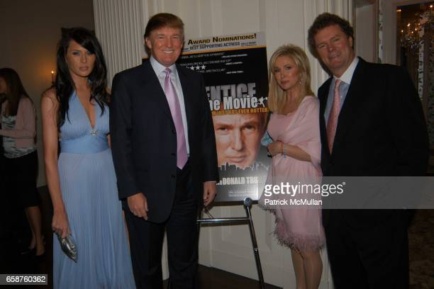 Melania Knauss Donald Trump Kathy Hilton and Rick Hilton attend Kathy and Rick Hilton's party for Donald Trump and 'The Apprentice' at the Hiltons'...