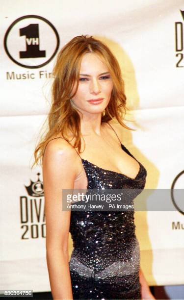 Melania Knauss girlfriend of American business tycoon Donald trump at the VH1 Diva's 2000 the 3rd annual VH1 Diva's show which this year was a...