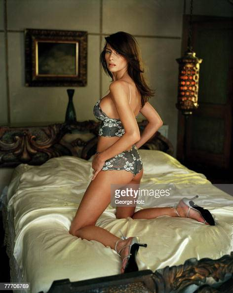 Melania Knauss Trump is photographed for FHM Magazine on July 18 2000 ...
