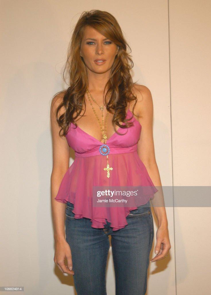 Melania Knauss wears Levi's Premium during Fashion Week Show more