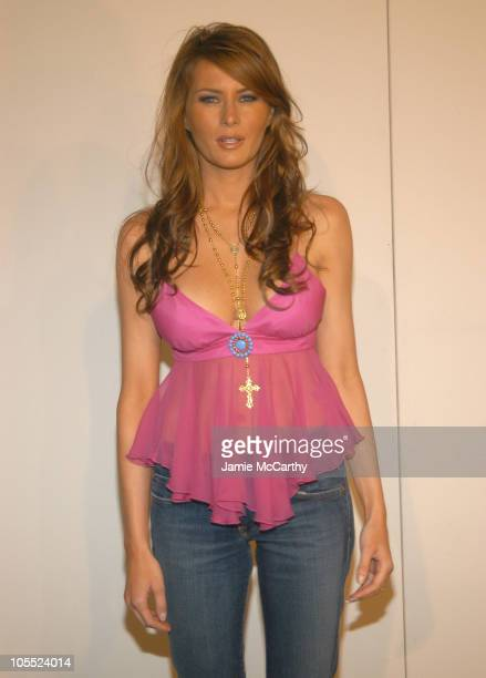 Melania Knauss wears Levi's Premium during Fashion Week