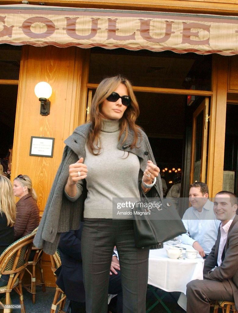 Melania Trump, 3-month pregnant, is seen coming out of La Goulue ...