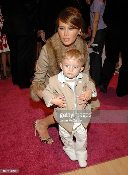 Melania Trump and baby Barron Trump during The Associates Committee of The Society of Memorial SloanKettering Cancer Center's 16th Annual Bunny Hop...