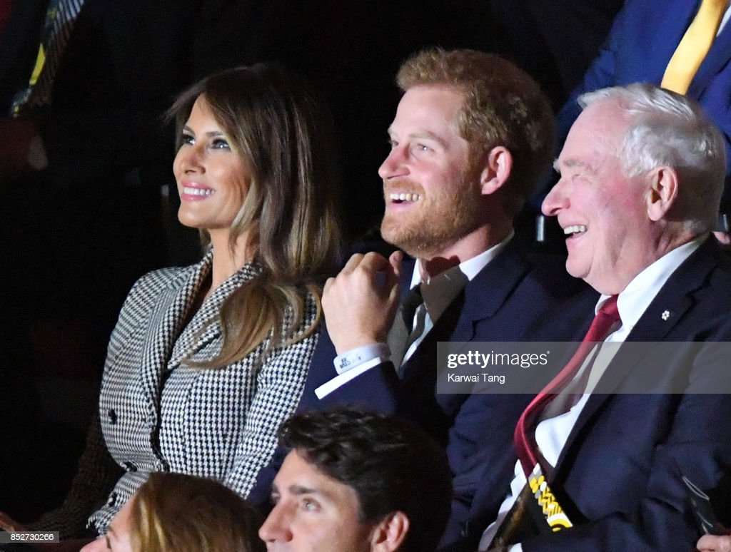Melania Trump and Prince Harry attend the Opening Ceremony of the Invictus Games Toronto 2017 at the Air Canada Arena on September 23, 2017 in Toronto, Canada. The Games use the power of sport to inspire recovery, support rehabilitation and generate a wider understanding and respect for the Armed Forces.