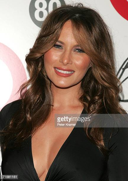 Melania Trump attend Tony Bennett's 80th birthday celebration hosted by Target at The Museum of Natural History on August 3 2006 in New York City
