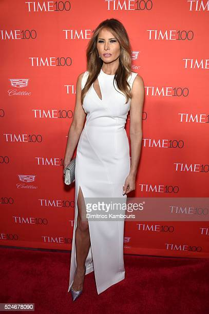 Melania Trump attends 2016 Time 100 Gala Time's Most Influential People In The World red carpet at Jazz At Lincoln Center at the Times Warner Center...