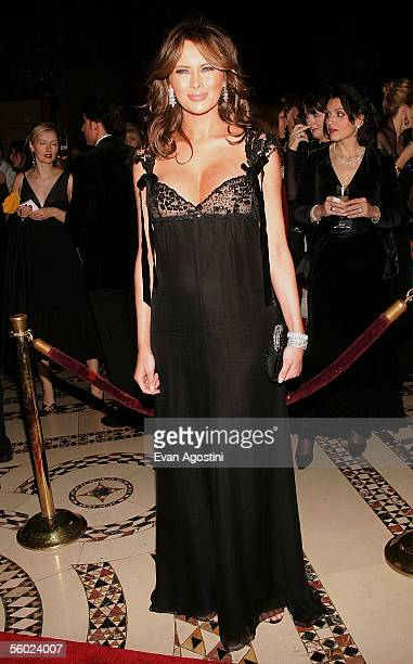 Melania Trump attends Fashion Group International's 22nd Annual 'Night Of Stars' at Cipriani's 42nd Street October 27 2005 in New York City Ms...