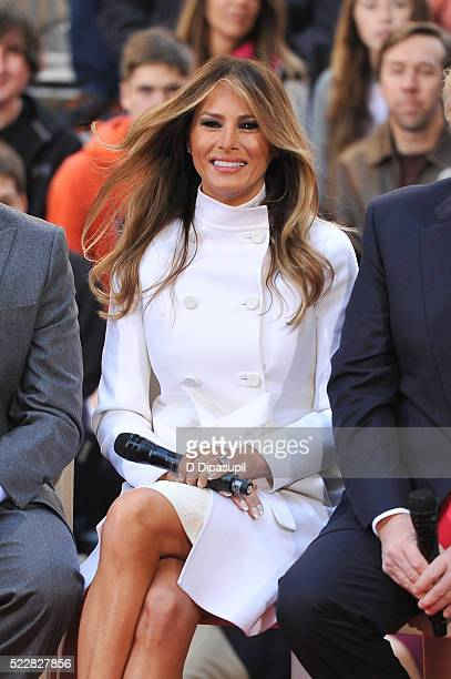 Melania Trump attends NBC's Today Trump Town Hall at Rockefeller Plaza on April 21 2016 in New York City