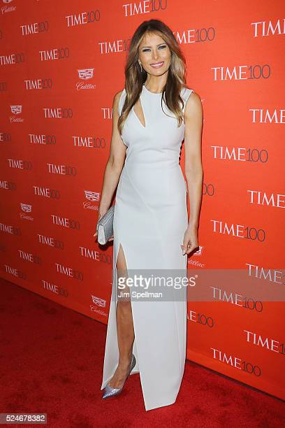 Melania Trump attends the 2016 Time 100 Gala at Frederick P Rose Hall Jazz at Lincoln Center on April 26 2016 in New York City