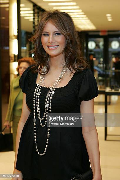 Melania Trump attends The Camellia Luncheon Sponsored by Chanel to benefit The New York Botanical Garden at Chanel on October 25 2005 in New York City