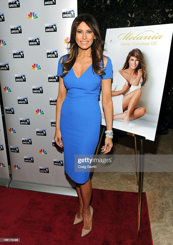 Melania Trump attends the 'Celebrity Apprentice All-Star' event at Trump Tower on April 9, 2013 in New York City.