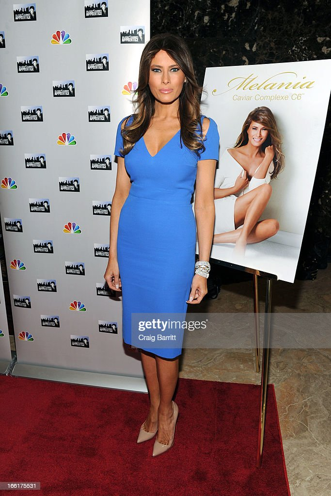 <a gi-track='captionPersonalityLinkClicked' href=/galleries/search?phrase=Melania+Trump&family=editorial&specificpeople=201777 ng-click='$event.stopPropagation()'>Melania Trump</a> attends the 'Celebrity Apprentice All-Star' event at Trump Tower on April 9, 2013 in New York City.