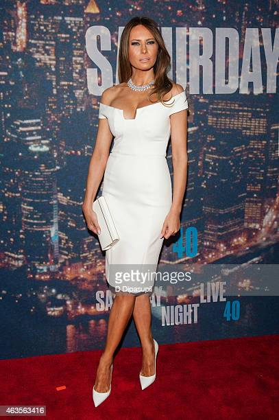 Melania Trump attends the SNL 40th Anniversary Celebration at Rockefeller Plaza on February 15 2015 in New York City