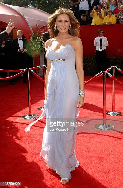Melania Trump during 57th Annual Primetime Emmy Awards Arrivals at The Shrine in Los Angeles California United States