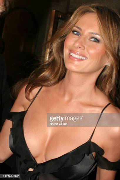 Melania Trump during 'Sweet Charity' Broadway Opening Night Arrivals at The Al Hirshfeld Theater in New York City New York United States