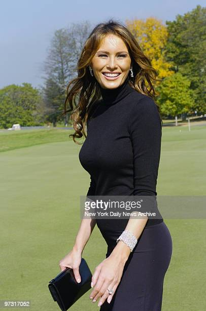 Melania Trump is at the Trump National Golf Course in Westchester where she hosted a golf outing to raise money for people in need of emergency care...