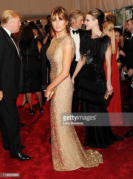 Melania TrumpTrump attends the 'Alexander McQueen Savage Beauty' Costume Institute Gala at The Metropolitan Museum of Art on May 2 2011 in New York...