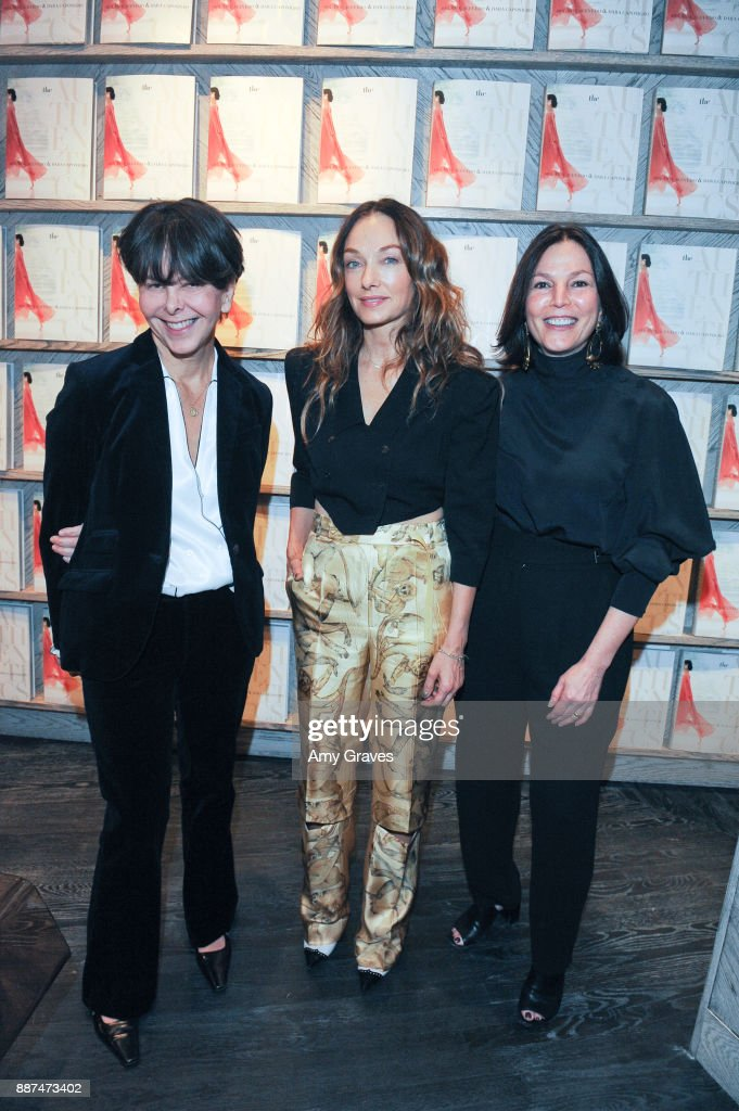 Melanie Acevedo, Kelly Wearstler and Dara Caponigro attend Kelly Wearstler hosts 'The Authentics' book signing launch party for Melanie Acevedo and Dara Caponigro at Kelly Wearstler Boutique on December 6, 2017 in West Hollywood, California.