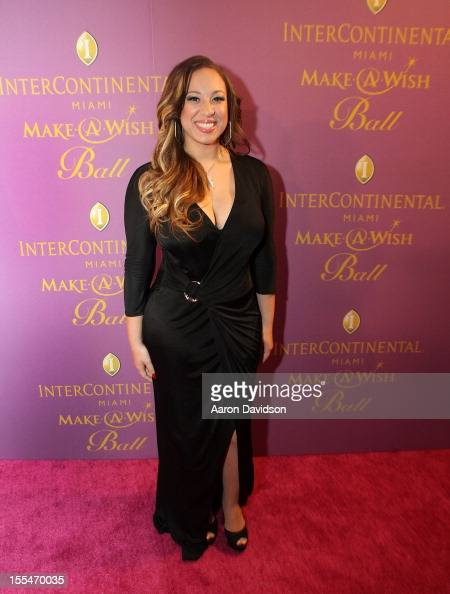 Melanie Amaro arrives at 18th Annual InterContinental Miami MakeAWish Ball at Hotel intercontinental on November 3 2012 in Miami Florida