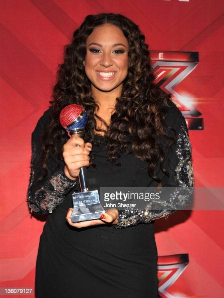 Melanie Amaro attends 'The X Factor' Season Finale at CBS Television City on December 22 2011 in Los Angeles California