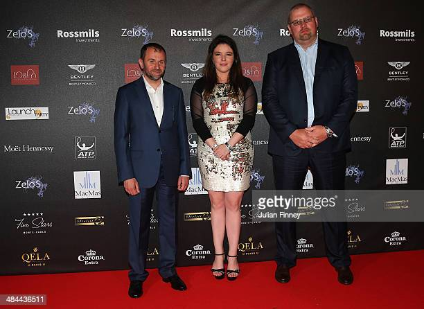 Melanie Antoinette de Massy poses with guests during the ATP Monte Carlo Rolex Masters Launch Party at the Grimaldi Forum on April 12 2014 in Monaco...