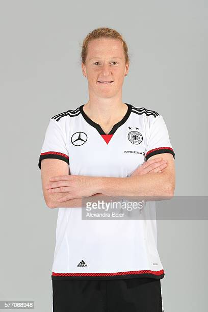 Melanie Behringer of the German women's national football team poses during the team presentation on June 21 2016 in Grassau Germany