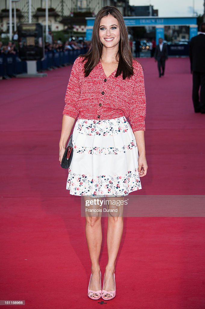 Melanie Bernier arrives for the 'Killer Joe' Premiere during the 38th Deauville American Film Festival on September 2, 2012 in Deauville, France.