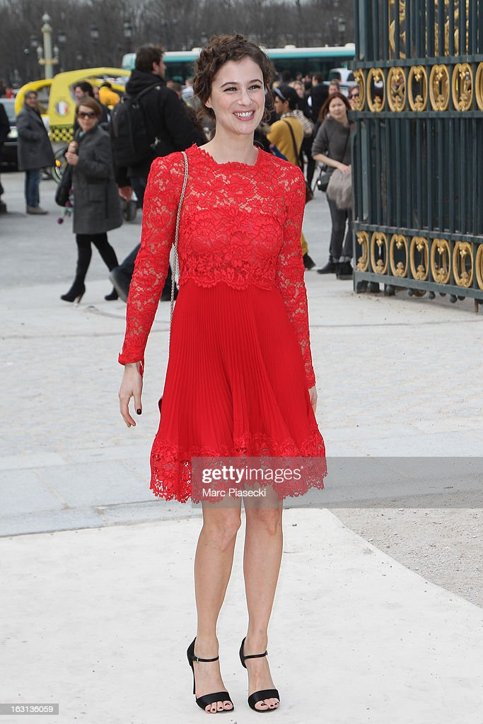 Melanie Bernier arrives to attend the 'Valentino' Fall/Winter 2013 Ready-to-Wear show as part of Paris Fashion Week on March 5, 2013 in Paris, France.